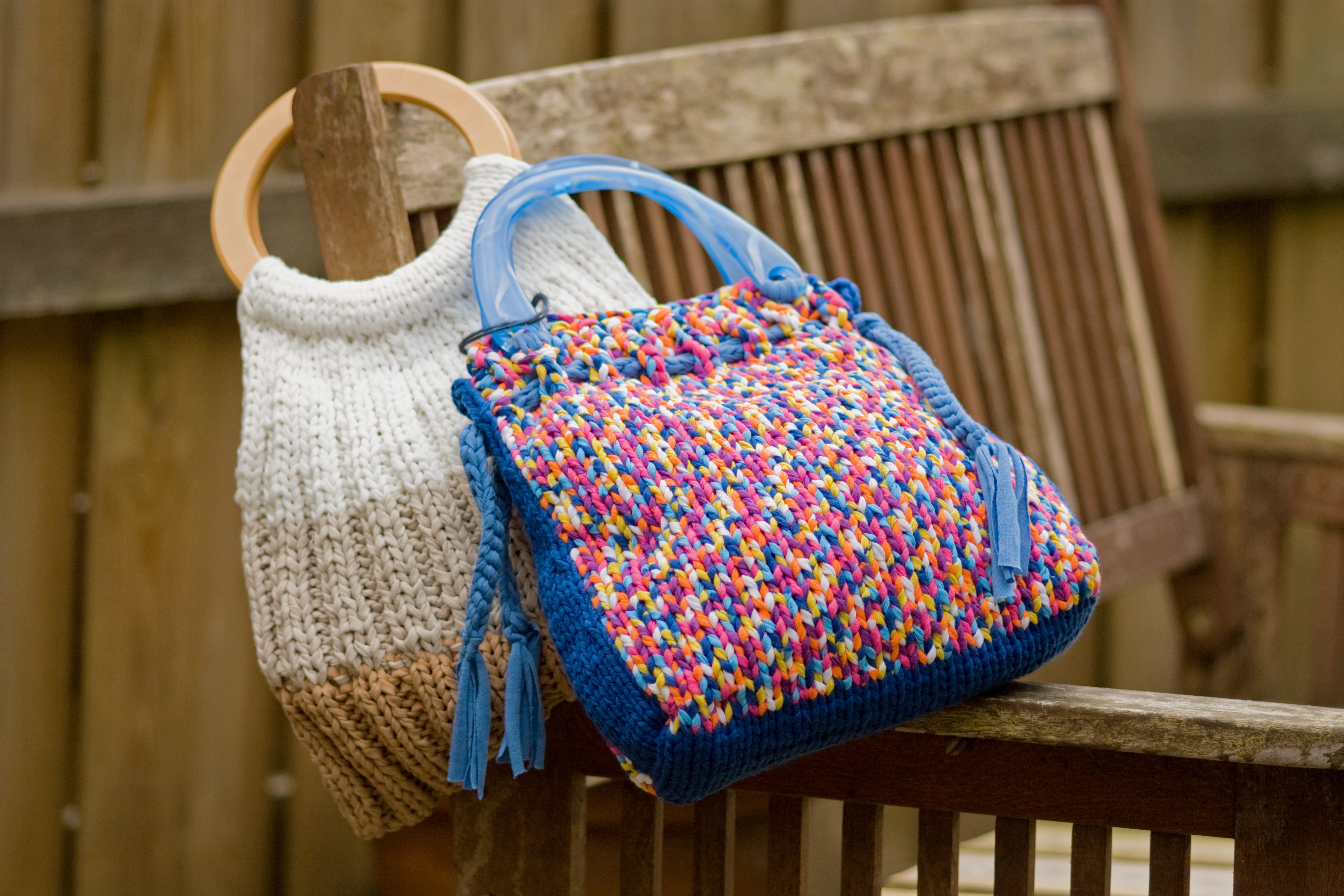 Tassen Patroon : Work tas breien of mand haken het breihuis
